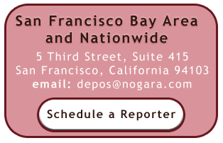 Scheduling for San Francisco Bay Area and National Court Reporters